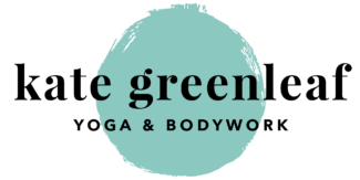 logo for Kate Greenleaf massage therapy and yoga